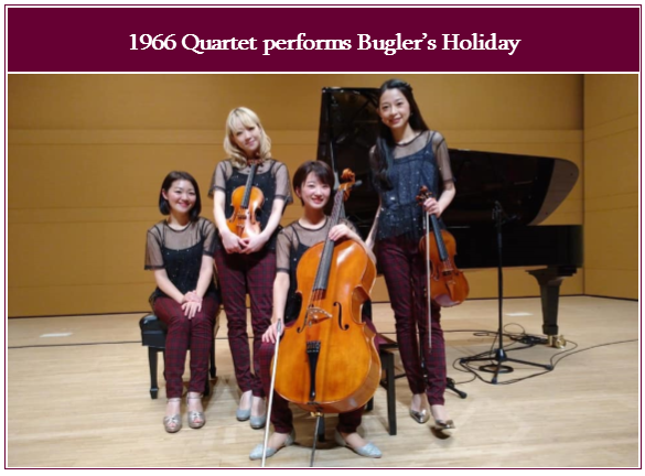 Bugler's Holiday, Performed by 1966 Quartet, Music by Leroy Anderson